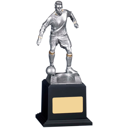 """8"""" silver male football player trophy with FREE engraving"""