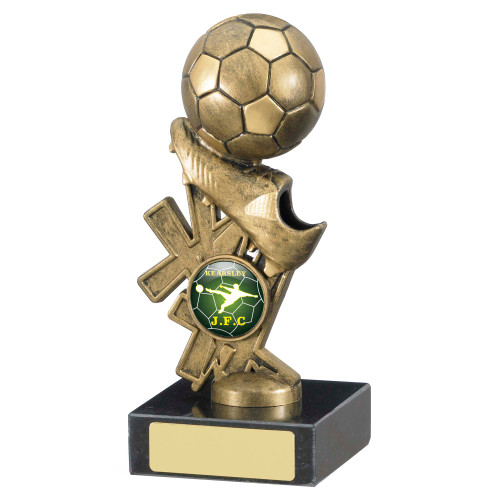 """6"""" Gold football and boot trophy with FREE engraving"""