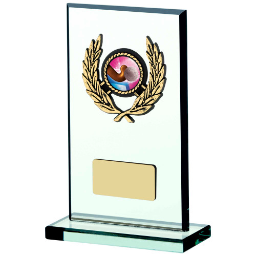 Jade glass hockey trophy 4 sizes with FREE engraving