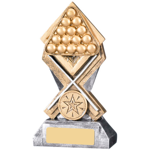 Diamond Extreme Snooker & Pool trophy available in 2 affordable sizes