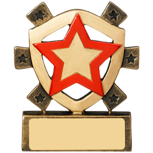 Star Shield Red House School Award 1st Place 4 Trophies