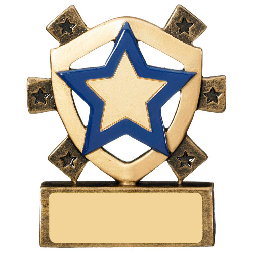 Star Shield Blue House School Award 1st Place 4 Trophies