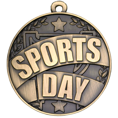 Gold Sports Day Medal 50mm