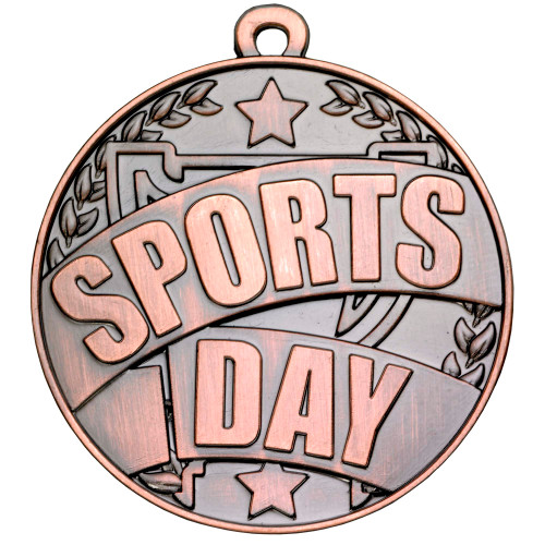 Bronze 50mm Sports Day medal