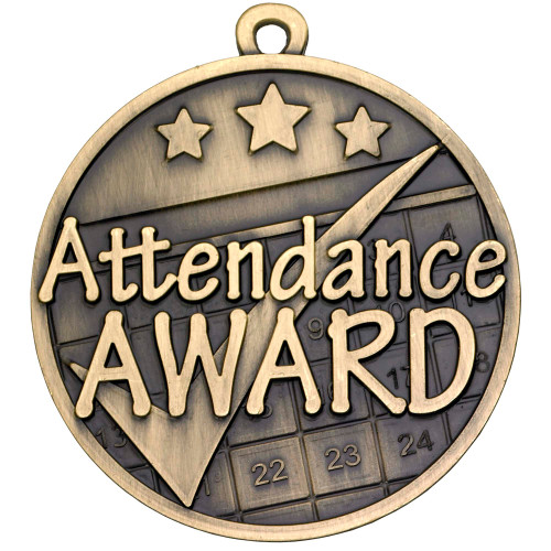 50mm high quality Attendance Award Medal