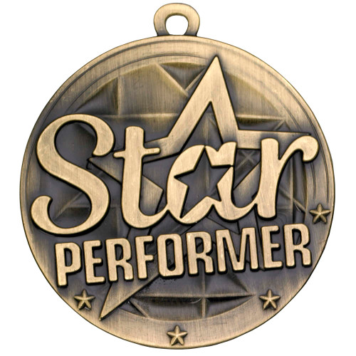 50mm high quality Star Performer medal
