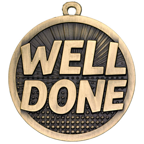 50mm high quality Well Done Medal