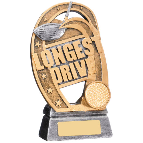 Longest Drive gold award with FREE engraving