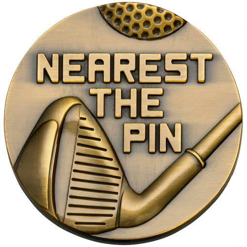 60mm x 4mm Nearest the Pin Golf medal