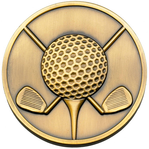 60mm x 4mm Golf clubs & ball medal FREE engraving