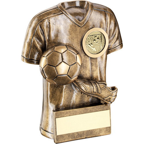 Shirt, Boot & Ball Football Trophy with FREE engraving