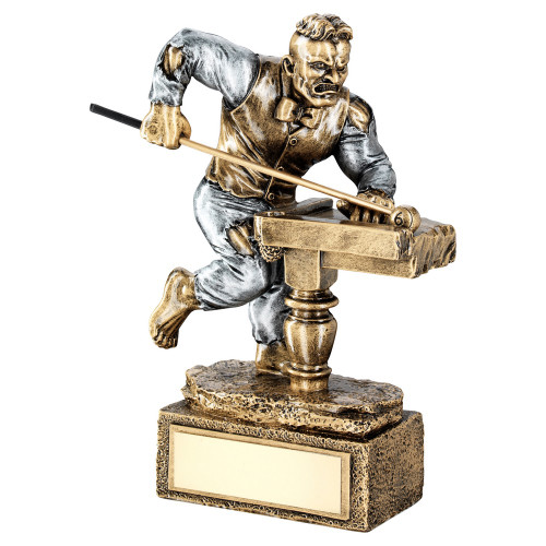Pool BEAST novelty trophy. FREE engraving at 1stPlace4Trophies