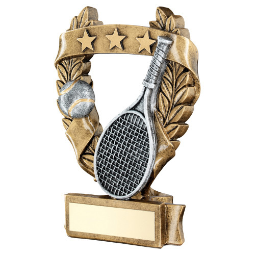 Tennis award available in 3 sizes with FREE engraving