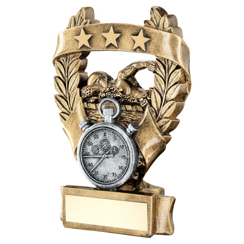 Swimming trophy available in 3 sizes with FREE engraving