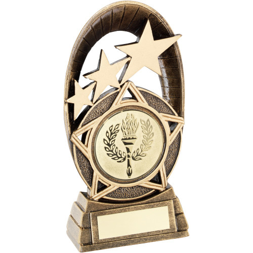 Multisport Oval Star Trophy with FREE engraving