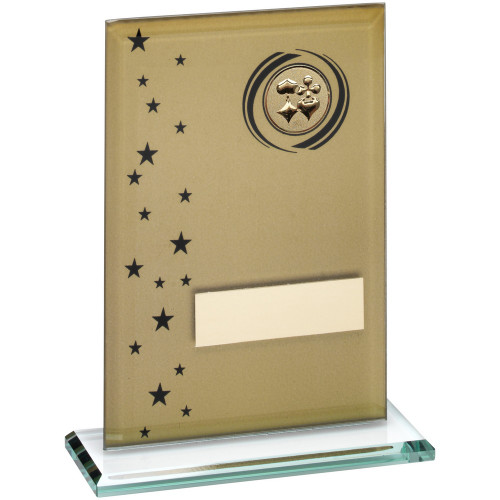 Gold & Black Glass Cards award with FREE engraving