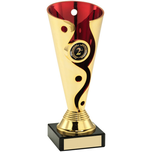 Quirky multisport swirl trophy includes FREE engraving