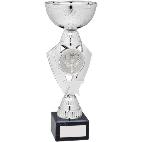 Silver star design multisport cup with FREE engraving