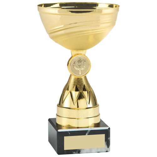 Gold Multisport Plastic Cup on marble base FREE engraving
