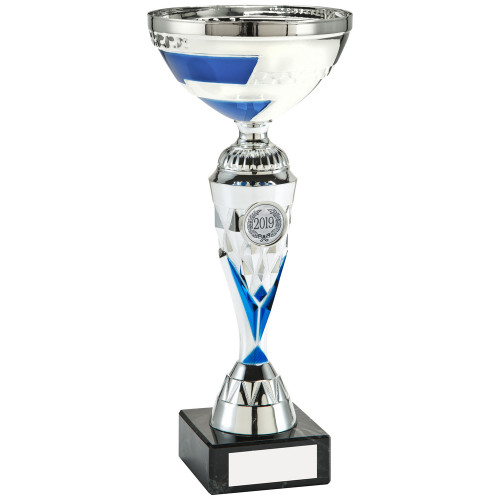 Blue & Silver Multisport cup in 4 sizes with FREE engraving