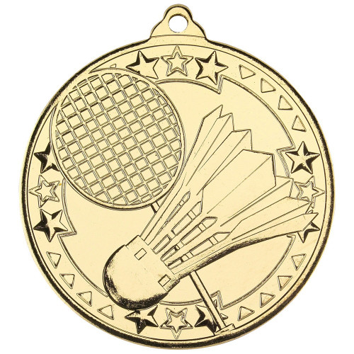 50mm Gold Badminton Medal Award