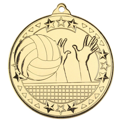 50mm Gold Volleyball Medal