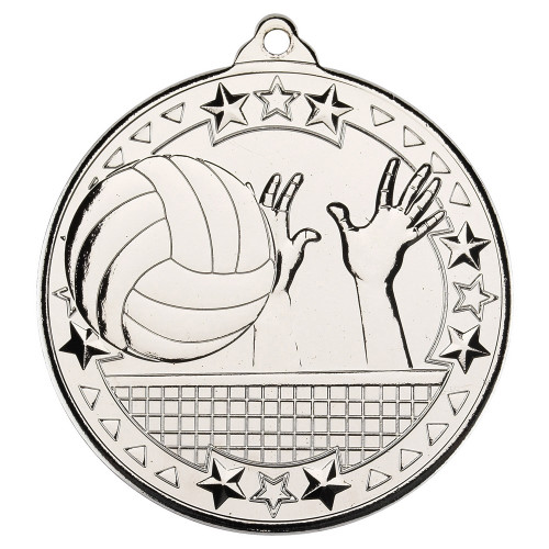 50mm Silver Volleyball Medal