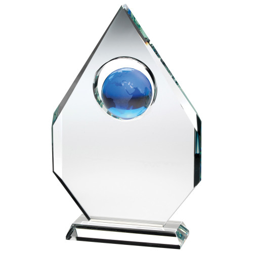 Premium glass globe corporate award at 1stPlace4Trophies