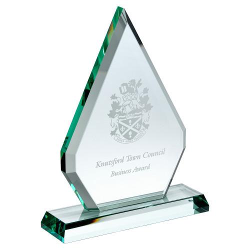 Standard glass engraved trophy