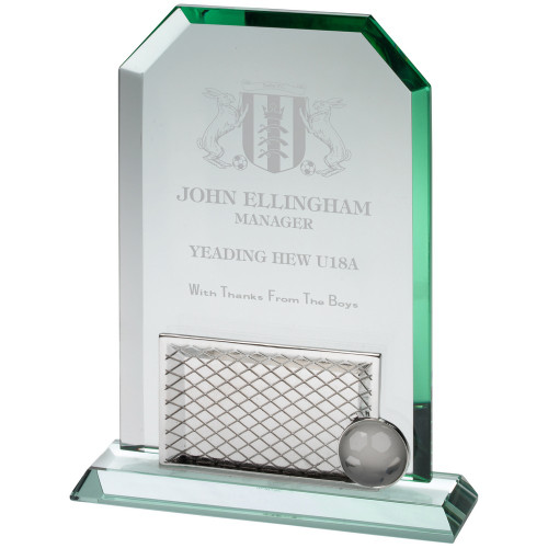 Standard glass engraved trophy at 1stPlace4Trophies