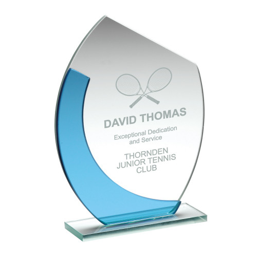 Standard glass engraved trophy at 1st Place 4 Trophies
