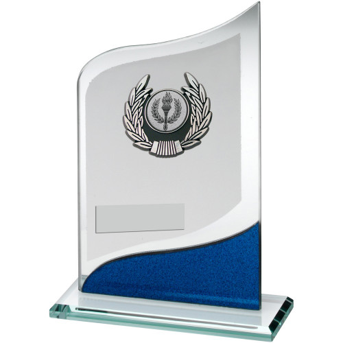 Multisport glass trophy with FREE engraving.