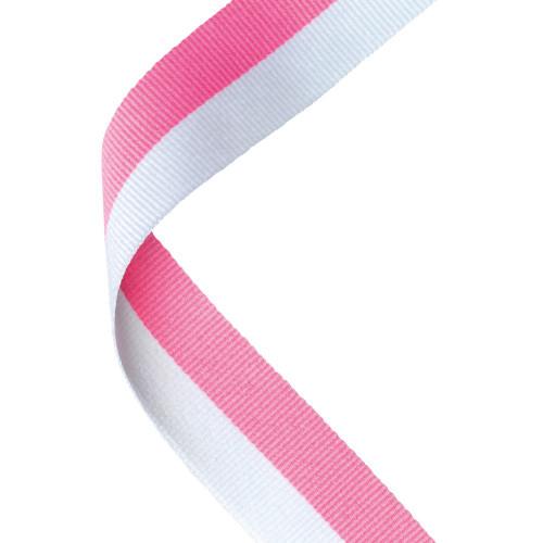 Pink & White Medal Ribbon