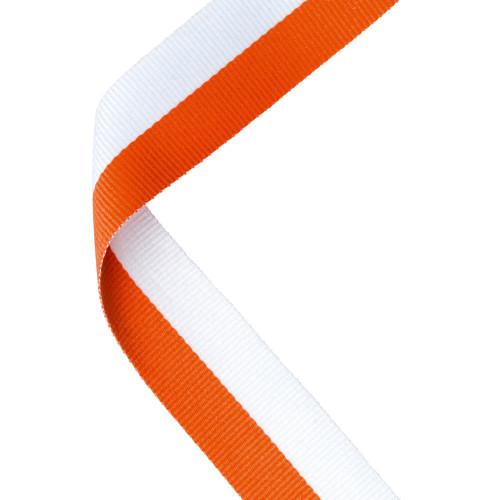 Orange & White Medal Ribbon