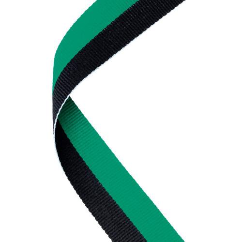 Green & Black Medal Ribbon at 1stPlace4Trophies