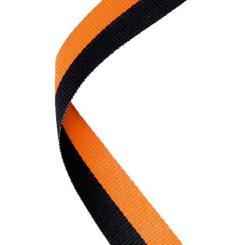 Orange & Black Medal Ribbon at 1stPlace4Trophies