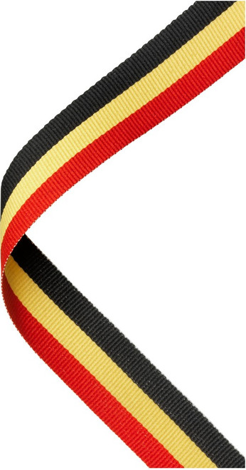 Red, Yellow & Black Medal Ribbon at 1stPlace4Trophies