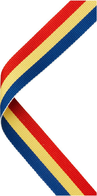 Red, Yellow & Blue Medal Ribbon at 1stPlace4Trophies