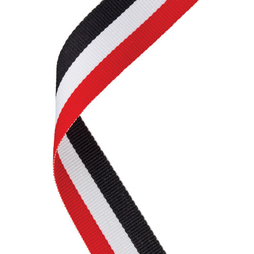 Red, White & Black Medal ribbon at 1stPlace4Trophies