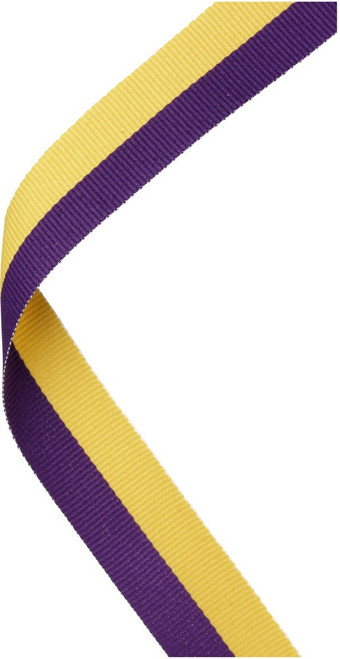 Purple & Yellow Medal Ribbon at 1stPlace4Trophies