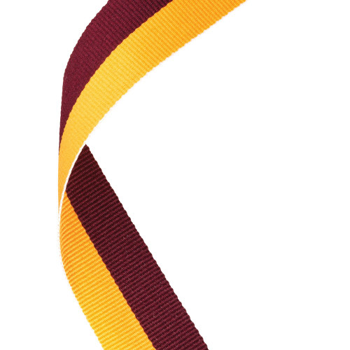 Maroon & Gold Medal Ribbon at 1stPlace4Trophies