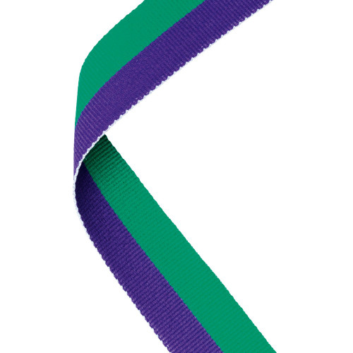 Purple & Green Medal Ribbon at 1stPlace4Trophies