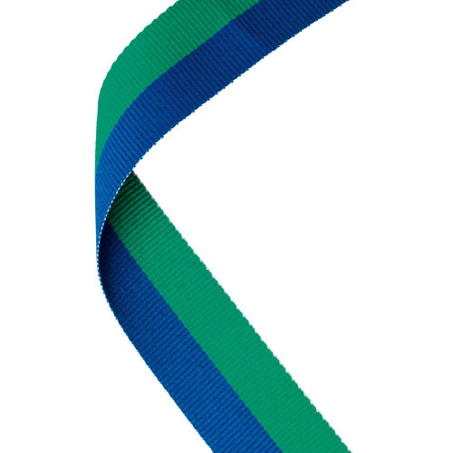 Green & Blue Medal Ribbon at 1stPlace4Trophies