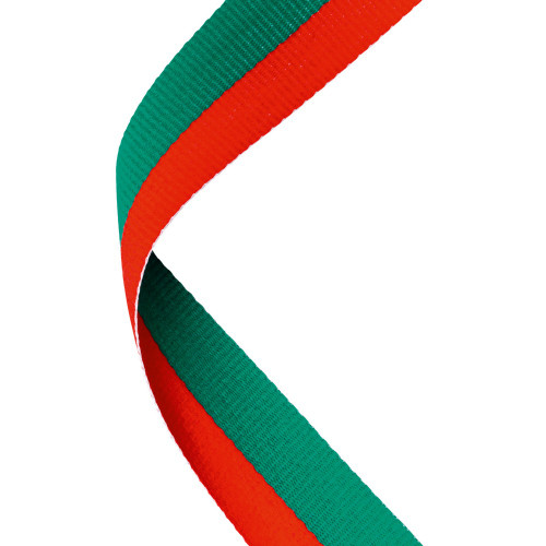 Red & Green Medal Ribbon at 1stPlace4Trophies
