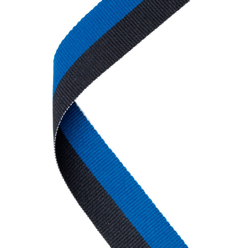 Blue & Black Medal Ribbon at 1stPlace4Trophies