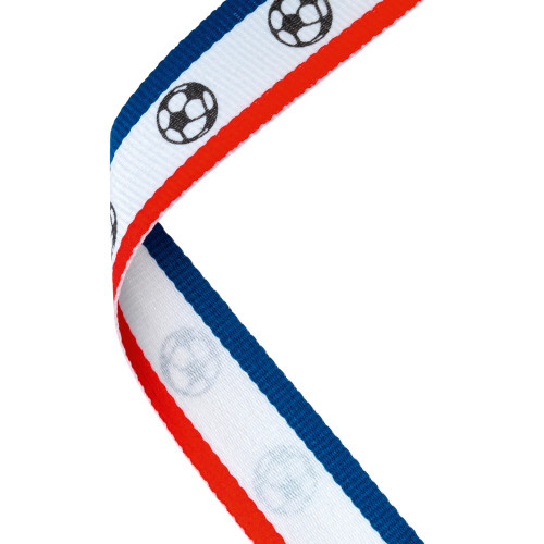 Red White & Blue Football Medal Ribbon at 1stPlace4Trophies