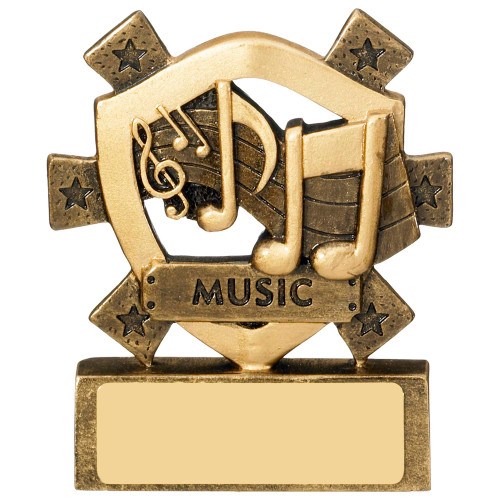 Mini shield Music trophy with FREE engraving