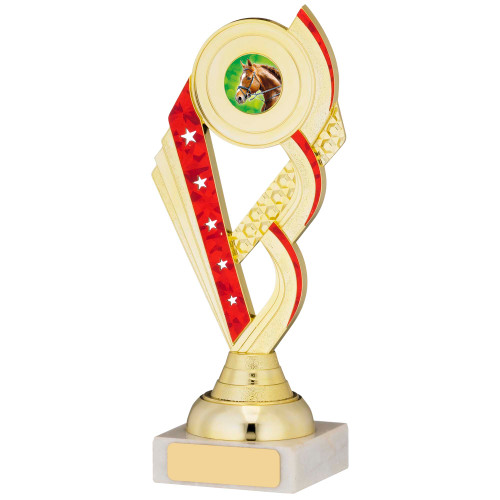Gold & Red Stars multisport trophy with FREE engraving