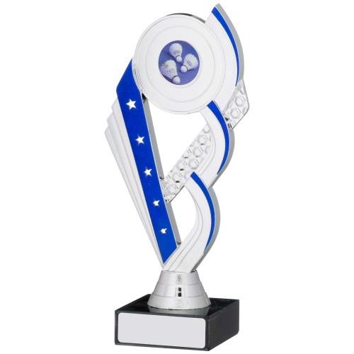 Silver & Blue stars multisport trophy with FREE engraving