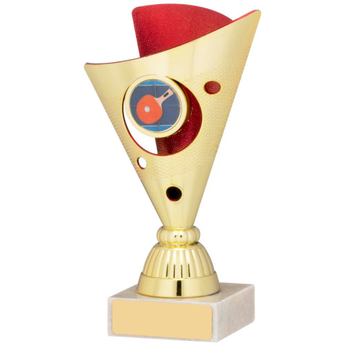 "6"" Budget gold & red multisport trophy FREE engraving"